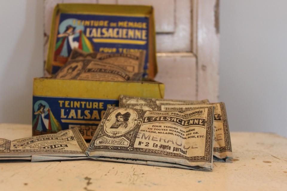 Oud zakje verfstof L. Alsacienne Emeraude