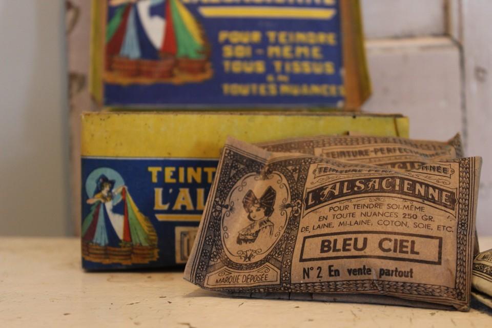 Oud zakje verfstof L. Alsacienne Bleu Ciel