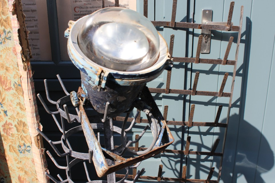 Oude Franse scheepslamp