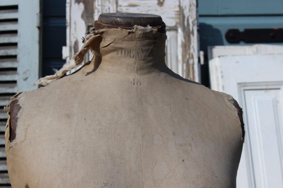 Oude Franse Stockman buste mt 48