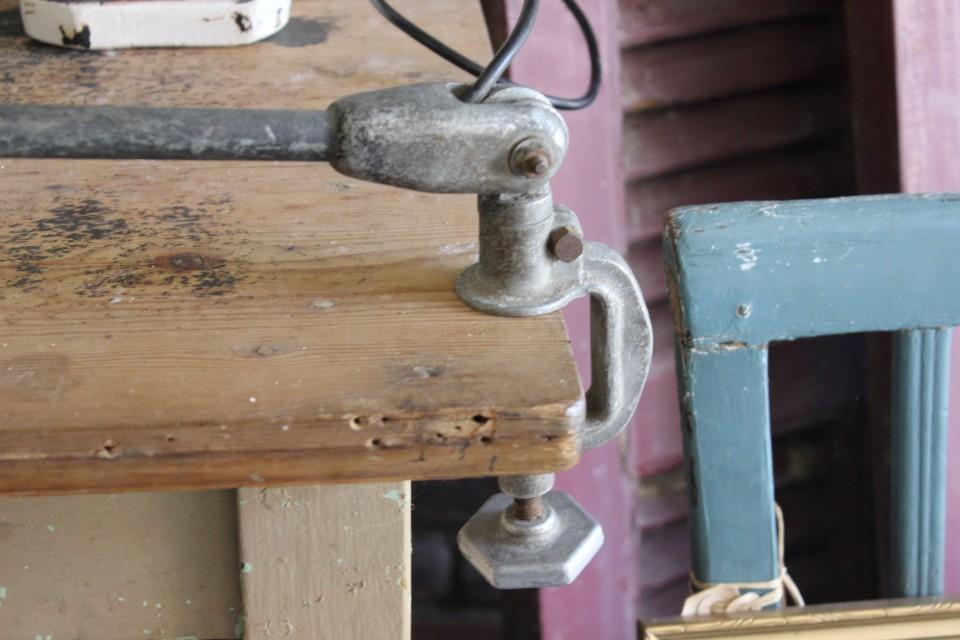 Oude Franse werklamp