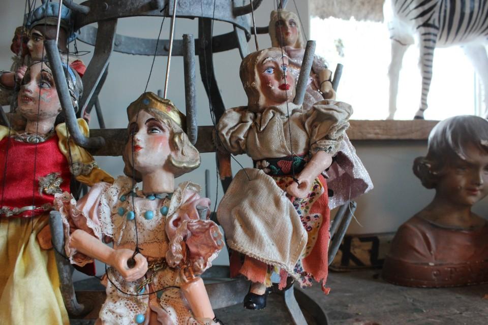 Antieke Praagse marionet dame