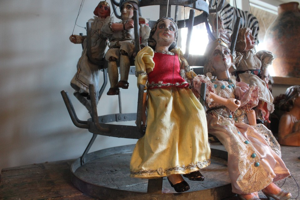 Antieke Praagse marionet Sneeuwwitje