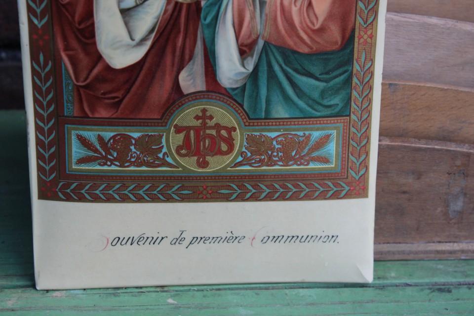 Oud souvenir heilige communie