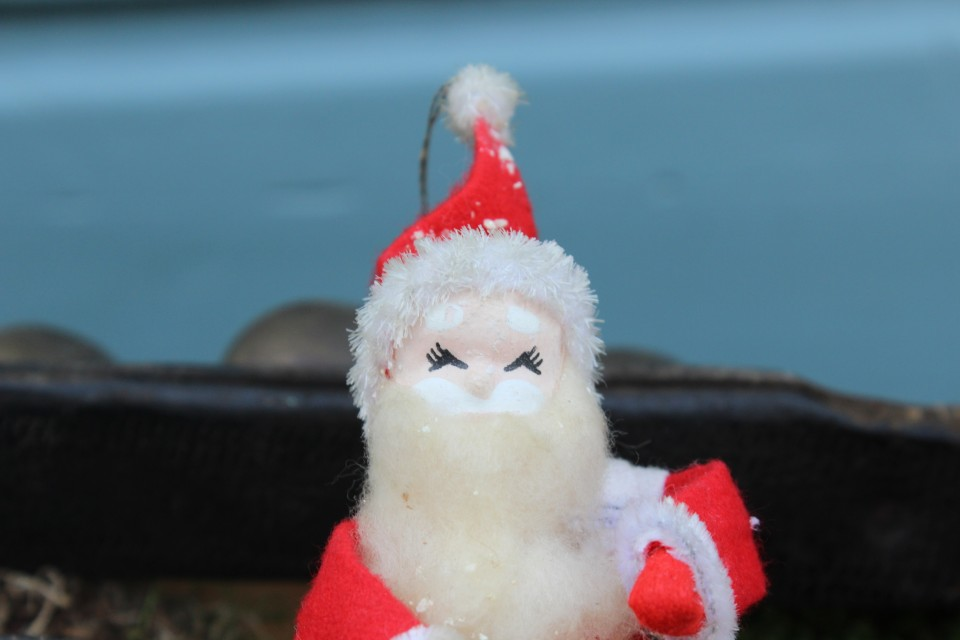 Oude kerstman van stof