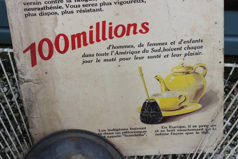 Oude Franse poster op karton