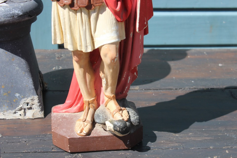 Oud beeld heilige Expeditus