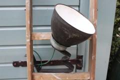 Oude grote stoere wandlamp