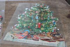 Oude grote poezieplaat Kerstboom