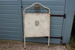 Brocante metalen Frans bed uiteinde