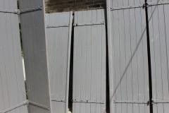 Brocante Frans houten luik 166 cm hoog