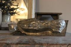 Oude metalen dubbele chocolade mal klomp ribbel 30 cm