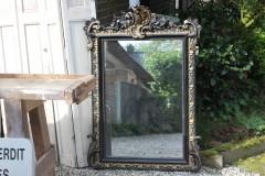 Oude grote Franse kuif spiegel