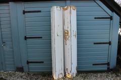 Brocante houten geschakelde luiken 193 cm hoog
