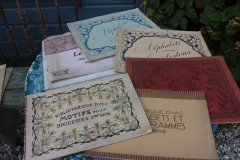 Set 6 stuks oude Franse handwerkboekjes