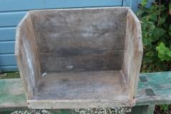 Oude houten knielbak