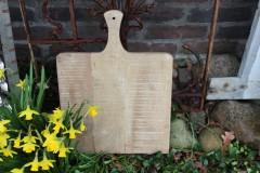 Oude houten snijplank/broodplank