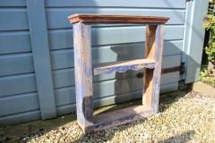 Brocante houten blauw kastje