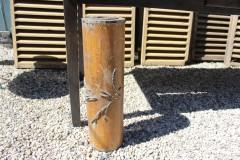 Oude houten grote batik rol