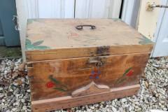 Oude houten bruidskist