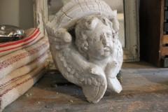 Oud ornament engel van gips