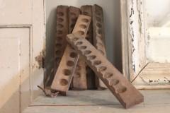 Oude houten Paasei mal enkel