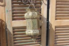 Brocante Oosterse koperen hanglamp