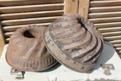 Oude metalen tulband