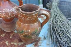 Oude aardewerk sap/wijn kan