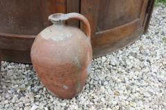Oude aardewerk olijfkruik