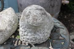 Oude betonnen schaap