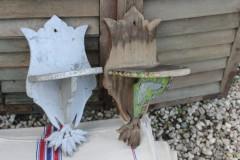 Set brocante houten schapjes