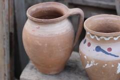 Brocante aardewerk bruin kruikje