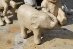 Brocante papier maché olifant