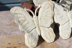 Brocante gietijzeren vlinder