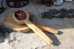 Brocante kleine houten lepel